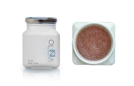 olinia natural organics cosmetics Fruity Body Scrub