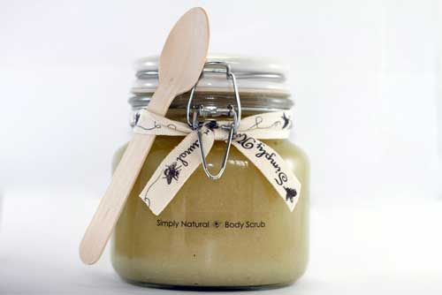 Simply Natural Beeswax organic cosmetic body scrub 2